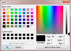 selector de color nativo del sistema parainput type color